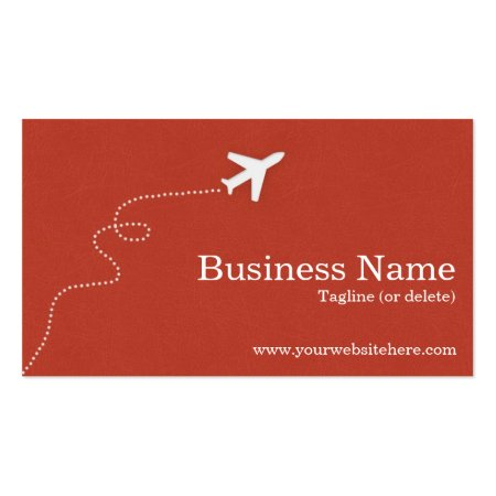 Burnt Orange Textured Print Background Custom Printed Aviation Business Cards