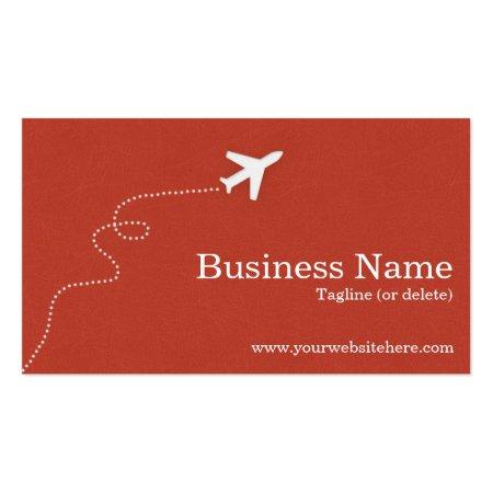 Burnt Orange Textured Print Background Custom Printed Aviation Business Cards