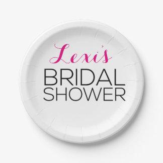 Modern and Sleek Bridal Shower Plates
