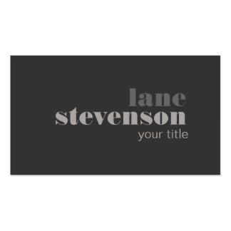 Modern and Sophisticated Bold Font Black Double-Sided Standard Business Cards (Pack Of 100)