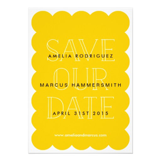 Modern and Sweet Scallop Save the Date Card