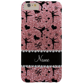 Modern and trendy pastel pink figure skating with barely there iPhone 6 plus case