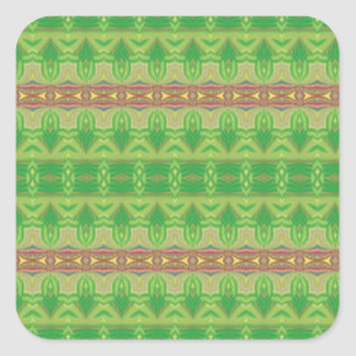 Modern and trendy pattern square sticker