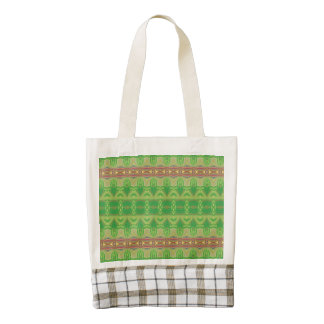 Modern and trendy pattern zazzle HEART tote bag