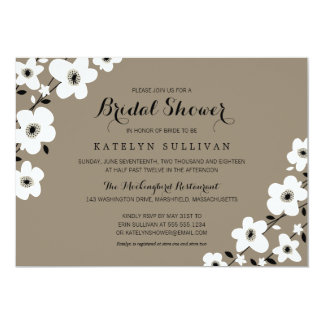 "Modern Anemone | Bridal Shower 5"" X 7"" Invitation Card"