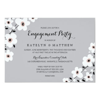 Modern Anemone | Engagement Party Card