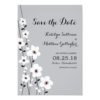 "Modern Anemone | Save the Date 5"" X 7"" Invitation Card"
