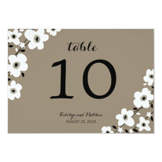 Modern Anemone | Table Number Card