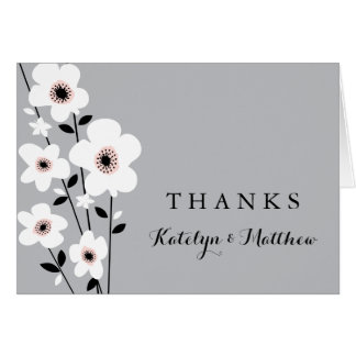 Modern Anemone | Thank You Card
