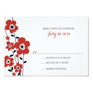 Modern Anemone | Wedding 3.5x5 Paper Invitation Card