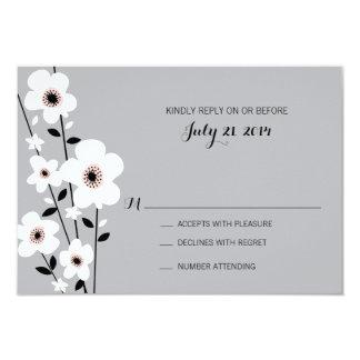Modern Anemone | Wedding Card
