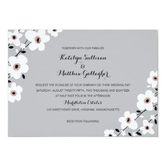 "Modern Anemone | Wedding 5"" X 7"" Invitation Card"