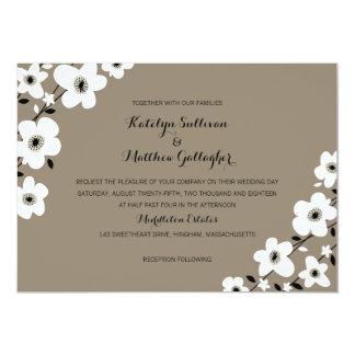 Modern Anemone   Wedding 5x7 Paper Invitation Card