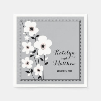 Modern Anemone | Wedding Napkin