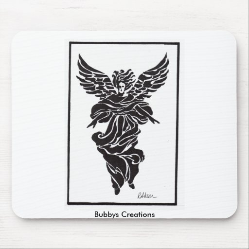 Modern Angel in Frame Mouse Pad