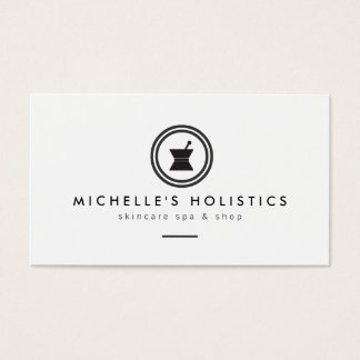 Modern Apothecary Holistic Medicine White Business Card