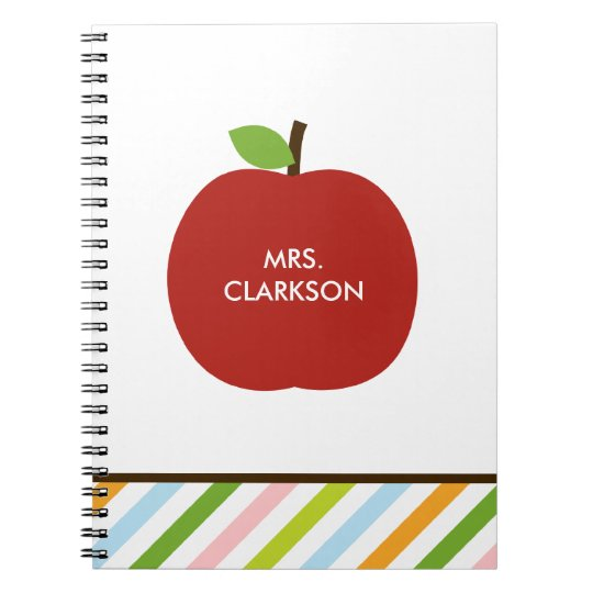 Modern Apple Personalized Notebook