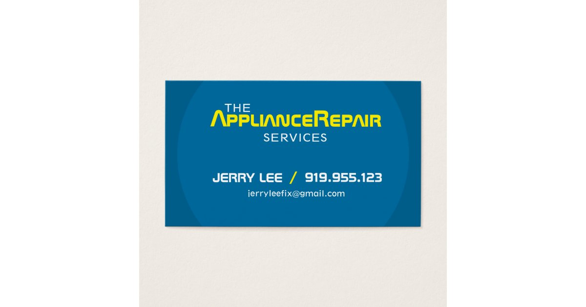 Delighted Appliance Repair Business Cards Gallery - Business Card ...