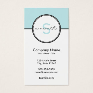 Modern Aqua and Gray Business Card