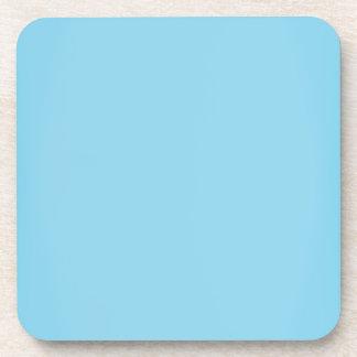 Modern Aqua Blue Customizable Drink Coaster