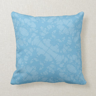 Modern Aqua Blue Damask Plain Throw Pillow