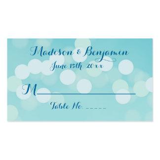Modern Aqua Blue Wedding Place Cards