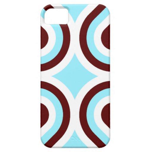 Modern Aqua Brown and White iPhone 5 Case
