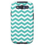 Modern Aqua Chevron Stripes Galaxy S3 Case