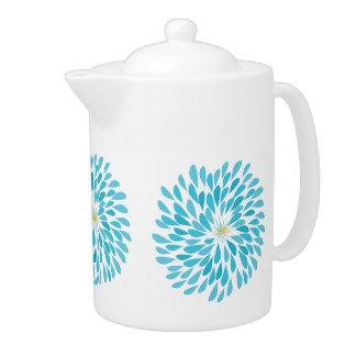 Modern Aqua Flower Teapot