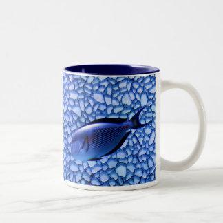 Modern Aquarium Two-Tone Coffee Mug