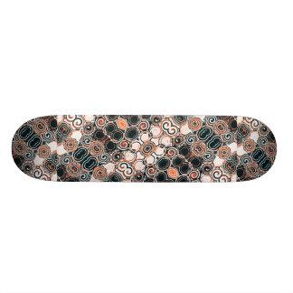 Modern Arabesque Pattern Print Skateboard Deck
