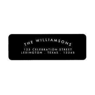 Modern Arch Address Label Black | White
