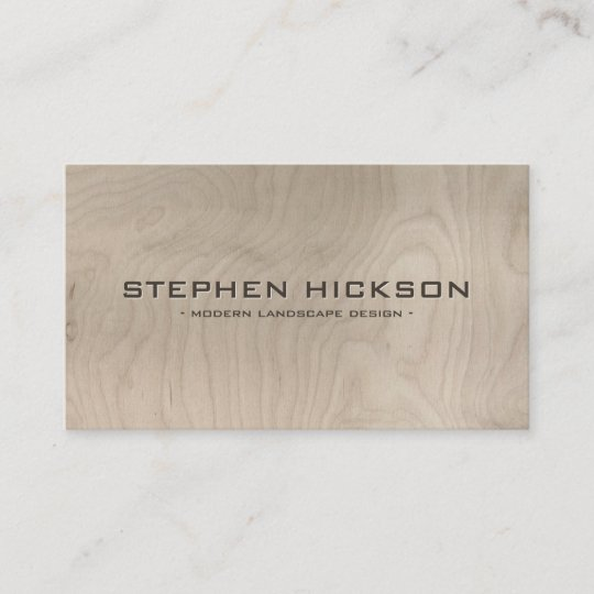 Modern architectural carved text on gray wood business card modern architectural carved text on gray wood business card reheart Image collections
