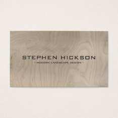 Modern & Architectural Carved Text On Gray Wood Business Card at Zazzle