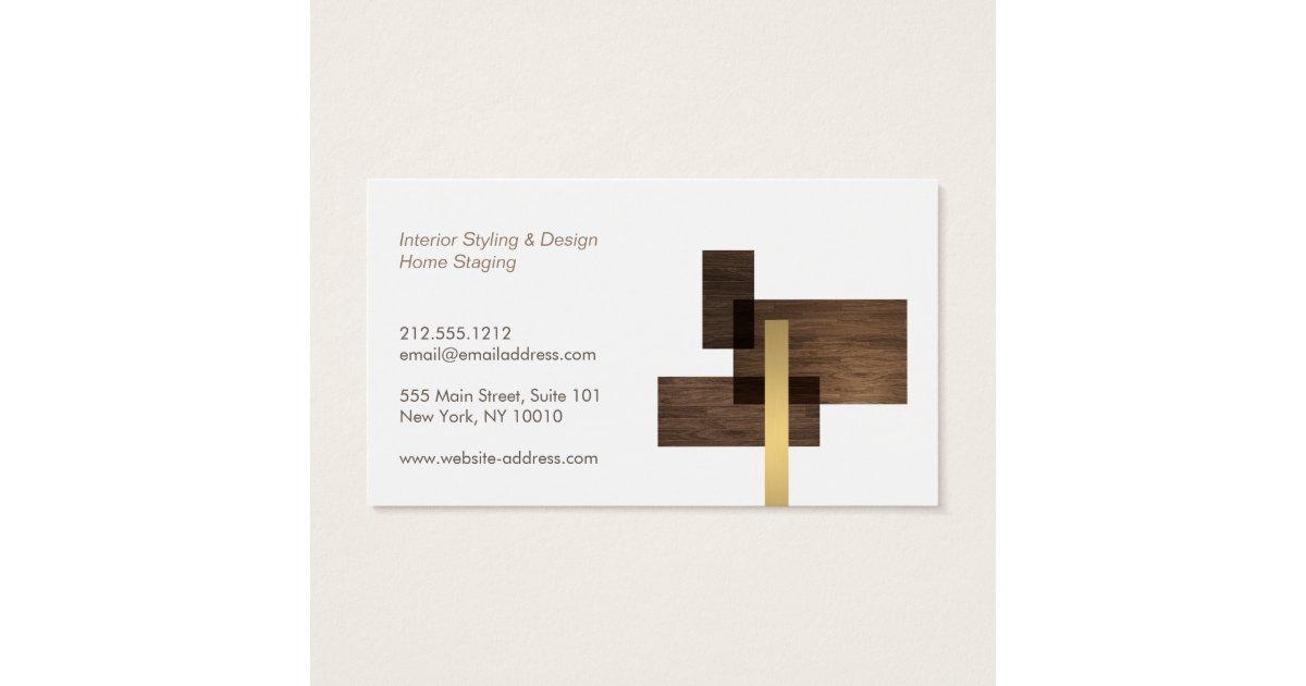 Interior Design Logos: Modern Architectural Interior Design Logo Business Card