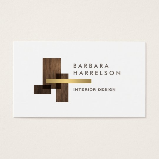 Modern Architectural Interior Design Logo Business Card Zazzle