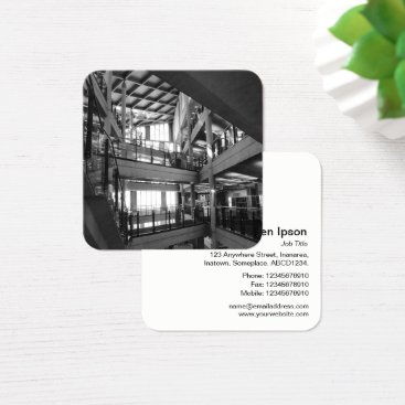 Professional Business Modern Architecture - Cardiff Central library Square Business Card