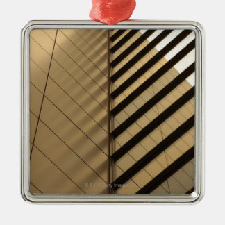 Modern architecture, yellow toned metal ornament