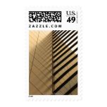 Modern architecture, yellow toned postage stamps