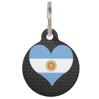 Modern Argentinean flag Pet Tags