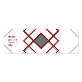 Modern  Argyle Double-Sided Mini Business Cards (Pack Of 20)