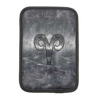 Modern Aries Zodiac Sign Grunge Distressed Style iPad Mini Sleeve