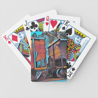 Modern aristocratic connecting Train cars Bicycle Playing Cards