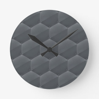 Modern Armor Pattern Round Wall Clocks