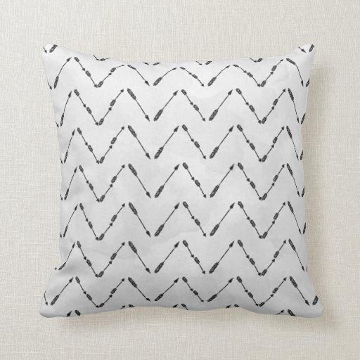 Modern Arrow Pattern Design Pillow Zazzle