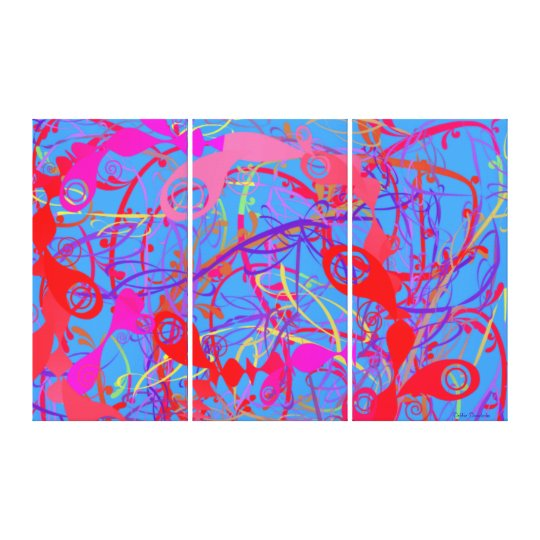 MODERN ART - 3 PANELS - HOME DECORATION - GIFTS CANVAS PRINT