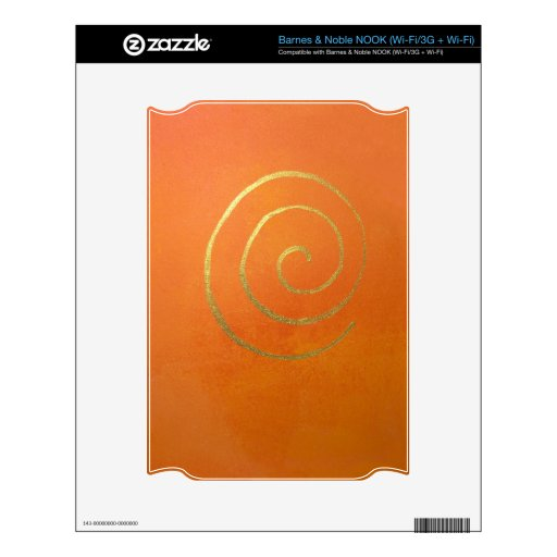 Modern Art Abstract Color Fields Orange Gold Decal For NOOK