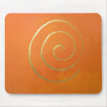Modern Art Abstract Orange And Gold Painting Mousepads