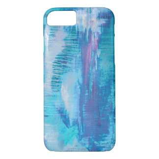 Modern Art Abstract Turquoise & Purple iPhone Case