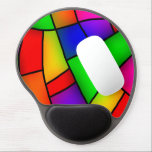 "Modern Art, Artistic Colorful Mosaic Gel Mouse Pad<br><div class=""desc"">Great Abstract Art Pattern. Get this Today!</div>"